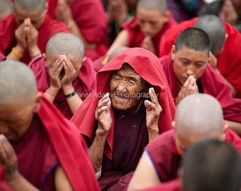 During the teachings of His Holiness Dalai Lama - Zanskar, 2012