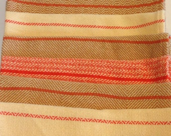 Set of 4 fall colored handwoven kitchen towels
