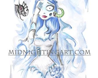 Emily Corpse Bride Art Print