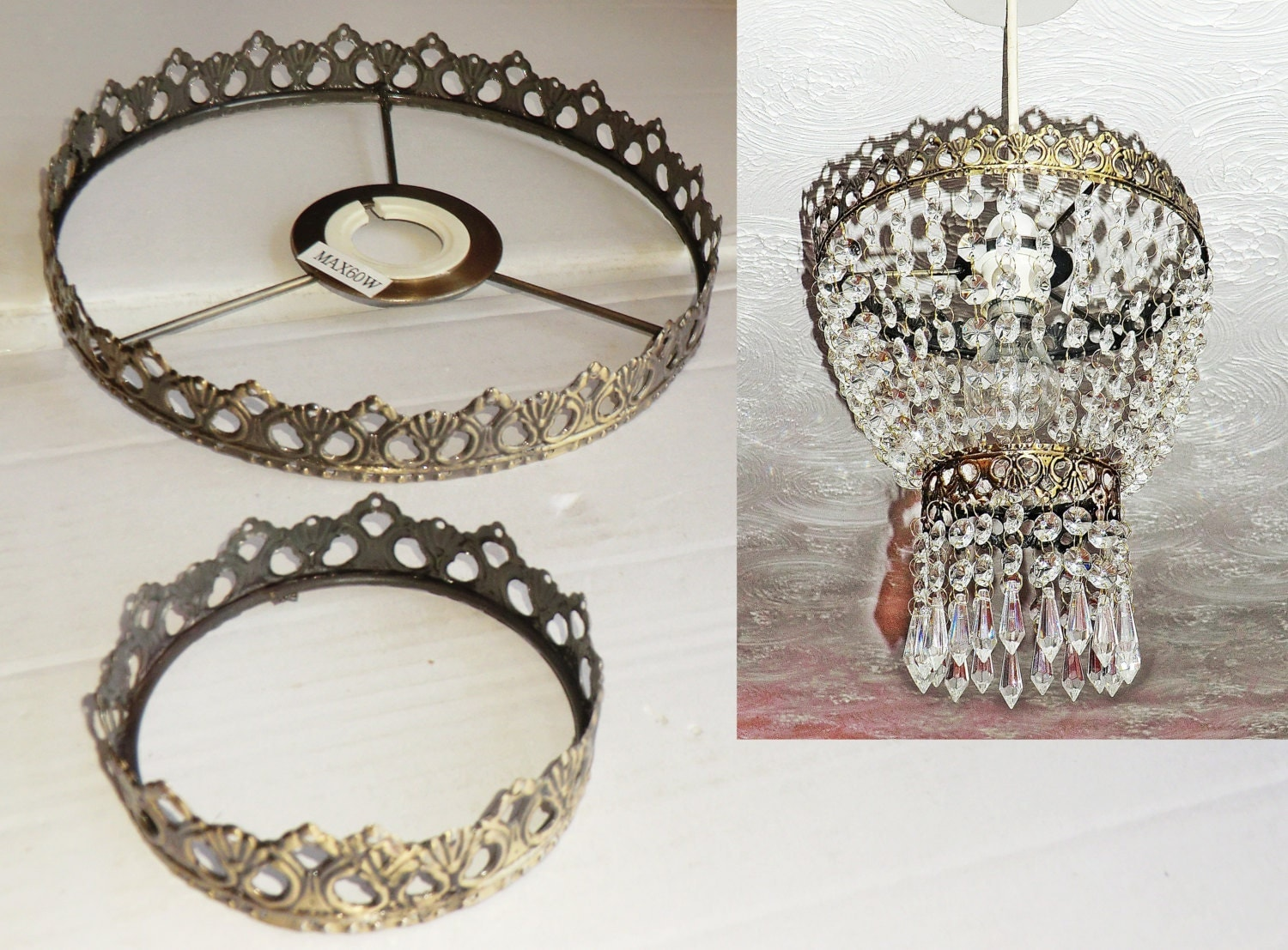 Two Tier Chandelier Metal Frame No Drops Make Your by