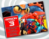 Big Hero 6 Invitation - B