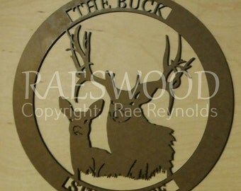 CNC DXF File Man Cave Wall Decor Deer Hunting #7 in this Series Great Gift for Browning Deer Lover's!
