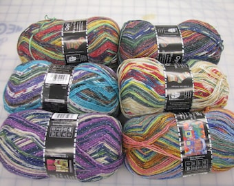 Opal Sock Yarn Hundertwasser glitter  / FREE US POST / ask for your coupon for 20% off any 129 dollar purchase