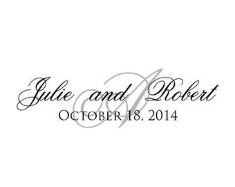 Wedding, Wedding Monogram, Wedding Logo, Calligraphy, Rustic Wedding, Wedding Crest, Typography, Watermark Logo, Digital Wedding w025