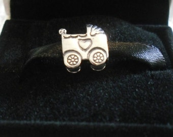 Authentic Genuine Pandora Sterling Silver Baby Carriage  Charm - 790346 NEW