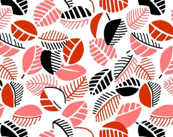 Cherry Mimosa Leaves fabric from the Mimosa Collection by Another Point of View for Windham Fabrics #39984-1