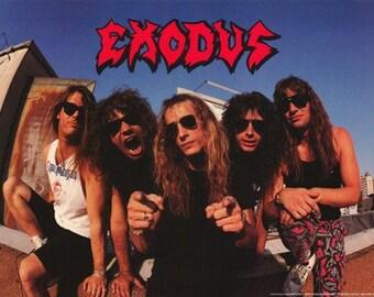 Exodus 1990 Rare Poster