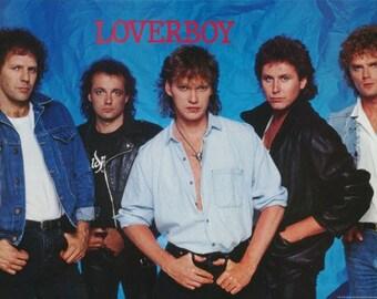 Loverboy Band 1986 Rare Poster