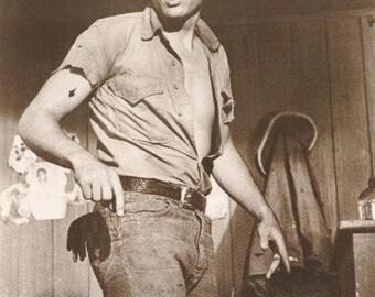 James Dean Standing  Rare Vintage Poster