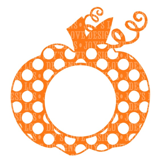 monogram pumpkin templates - items similar to monogram polka dot pumpkin svg and dxf