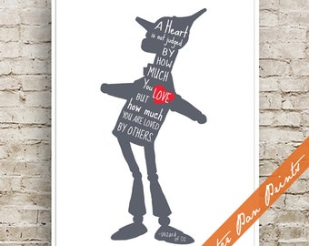 Heart is Judged by how much you are loved by others - Wizard of Oz Inspired Art Print (Unframed) (featured in River Rock) Peter Pan Prints