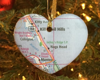 Wedding Map Ornament