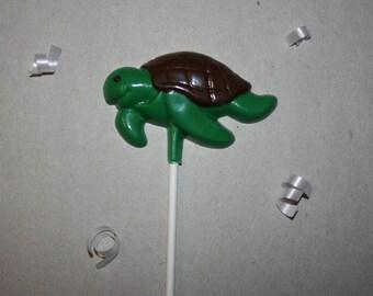 20 Chocolate TURTLE Lollipop Party Favors