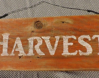 HARVEST/ REJOICE -Free Shipping-Reversible Antique Style Sign, Rustic,Reclaimed wood, Distressed, Holiday/Seasonal Home Decor, Two sided