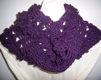 snood scarf circular crochet, violet, cowl, scarf, infinity, made hand