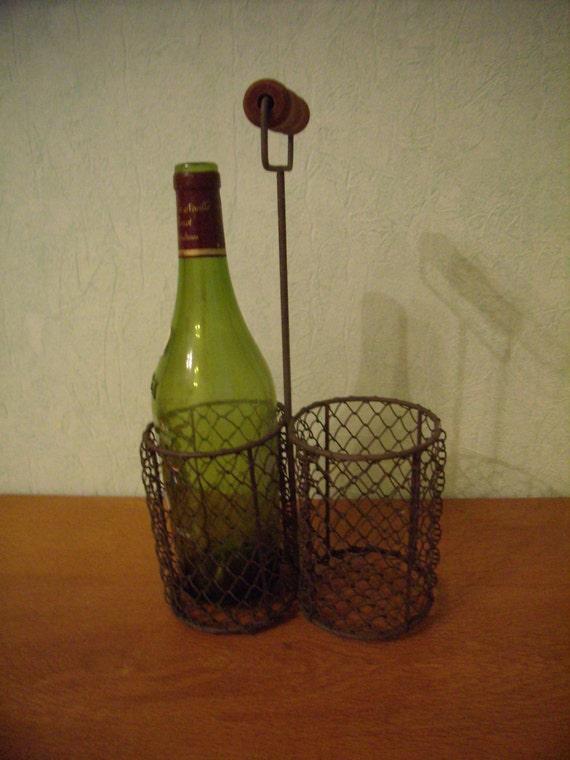 panier porte bouteilles pour le transport de 2 bouteilles. Black Bedroom Furniture Sets. Home Design Ideas