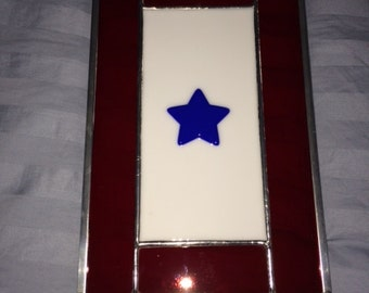 Blue Star Service Flag-Stained/Fused Glass