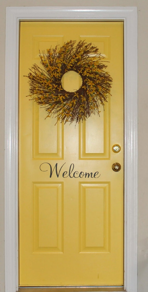 Welcome Vinyl Decal For Door By Vforvinyl On Etsy