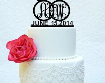 Custom Modern Wedding Cake Topper 6' (item number 10111)