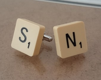 Personalised Pair of Scrabble Cufflinks