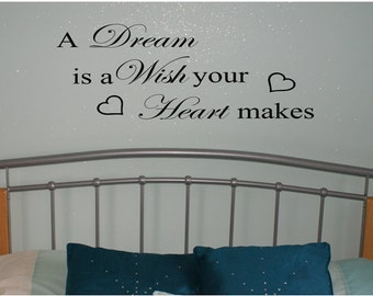 Wall Art, A Wish is a Dream your Heart makes