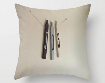Indoor / Outdoor Decorative Throw Pillow 16X16 IN. Christmas Joy Sign