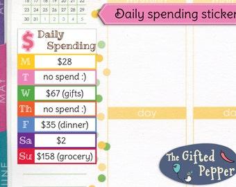Spending tracker | Etsy