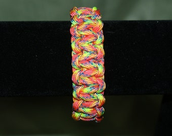 Fairytale Multicolor Paracord Bracelet, Pink, Yellow, Blue, Red, Green