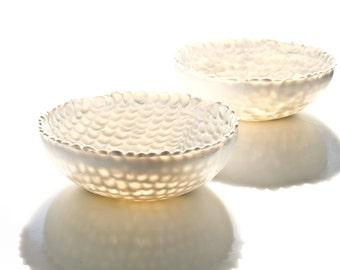 Porcelain Minimalist Bowl. Handmade Ceramic Bowl. Contemporary Serving Bowl. Wedding Fruit White Bowl Design by CONCEPTstudio.READY TO SHIP