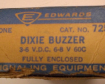 Antique Car Part Dixie Buzzer for Open Doors Ignition Switch, New in Antique Box from 1956! Part # 725 for 6V Vehicles,