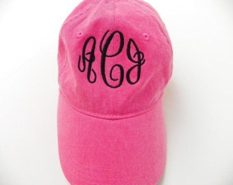 Monogrammed Pigment Dyed Caps!  Super cute and trendy!
