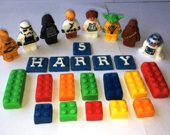 Edible Lego inspired Star Wars Cake Topper