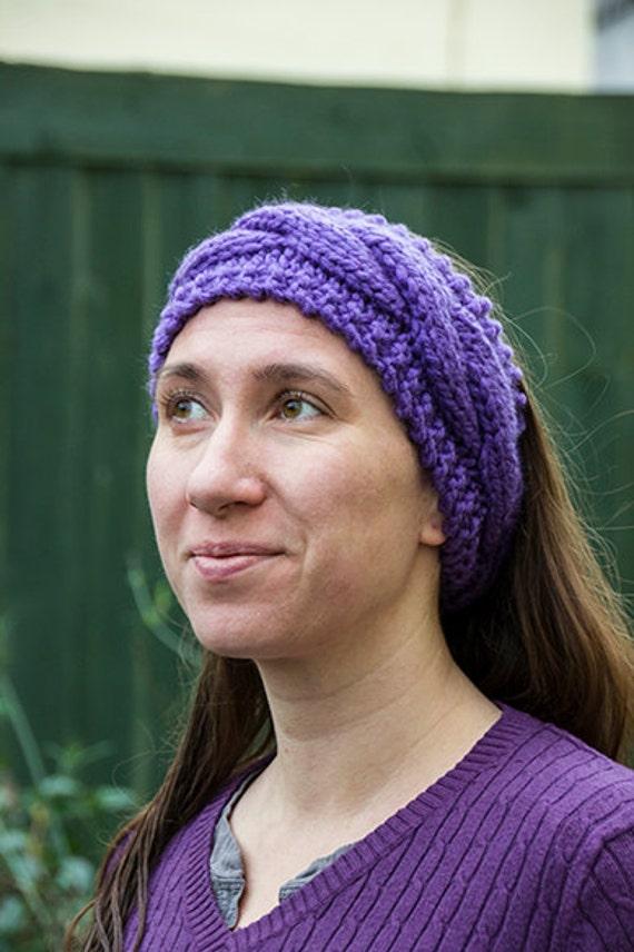 Hand knitted chunky cable headband, head wrap , Ear Warmer, Knit ...