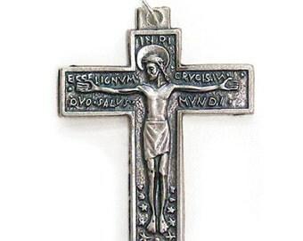 San Damiano Cross Jesus Crucifix  Lot of 6 Rosary or Pendant INIR Christian cross ITAY