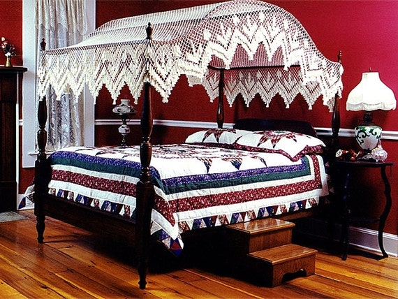 Full Size Large Scallop Arch Or Flat Handmade Canopy Bed Top