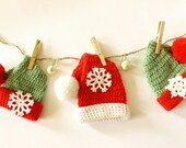 Christmas Garland! Christmas ornaments! Christmas hat! Holiday decor! Home decor! Christmas hangers! Set of 3 Christmas Hat! ohtteam
