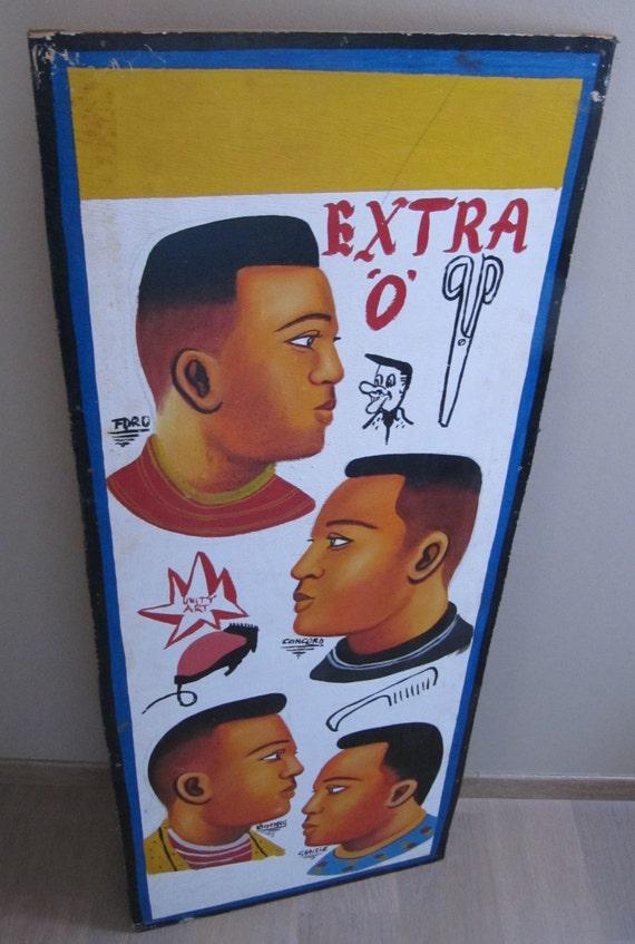 enseigne de coiffeur barbier africain. Black Bedroom Furniture Sets. Home Design Ideas