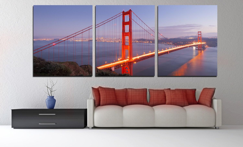san francisco golden gate bridge panoramic canvas print 3. Black Bedroom Furniture Sets. Home Design Ideas