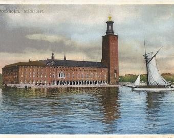 Stadshuset.  Stockholm, Sweden  c.1920 Unused Postcard