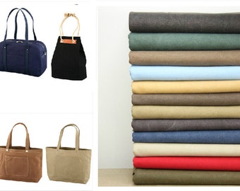 Vintage Solid Washed Thick Cotton Canvas Fabric, Bag /Purse ETC--1/2 yard-plain color