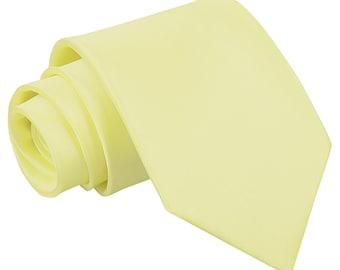 Satin Pale Yellow Tie