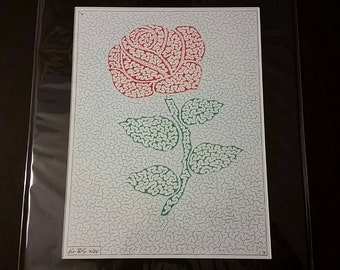 Hand Drawn Rose Maze