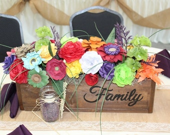 Wood Flower Box; Decorative Box; Wood Box; Customized Flower Box