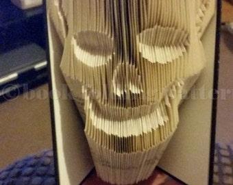 skull  book folding pattern