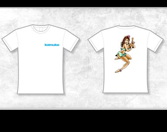 KAMUKE Ukulele Pin-Up T-Shirt