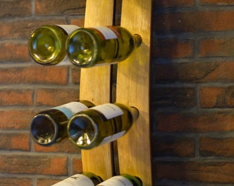 Reclaimed Rustic Double English Oak Wine Barrel Stave Wine Rack by The Fine Wooden Article Company