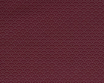 Traditional wave pattern, red - Fat Quarter