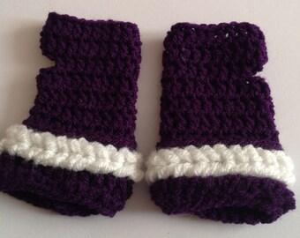 Cute Crochet Wrist warmer mitts (adults)