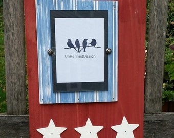 Handmade Cedar and Beadboard Painted Picture Frame