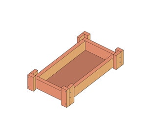 """Solid Wood 18"""" Doll Bed"""
